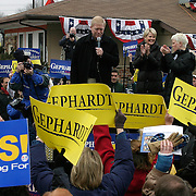 Rep. Richard Gephardt (D-MO) campaigns with UAW Local 1024 Saturday, January 17, 2004, in Cedar Rapids, Iowa.  Gephardt is locked in a statistical tie with Sen. Kerry, Gov. Dean, and Sen. Edwards to win the Iowa Caucus...Photo by Khue Bui