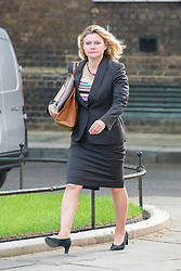© Licensed to London News Pictures. 08/07/2014. Westminster, UK. Justine Greening, Conservative MP,  arriving on Downing Street today 8th July 2014 for the weekly cabinet meeting. Photo credit : Stephen Simpson/LNP