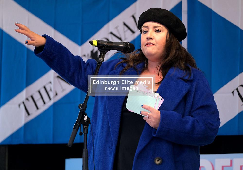 Independence Rally, Glasgow, Saturday 2nd November 2019<br /> <br /> Pictured: Suzanne McLaughlin <br /> <br /> Alex Todd   Edinburgh Elite media