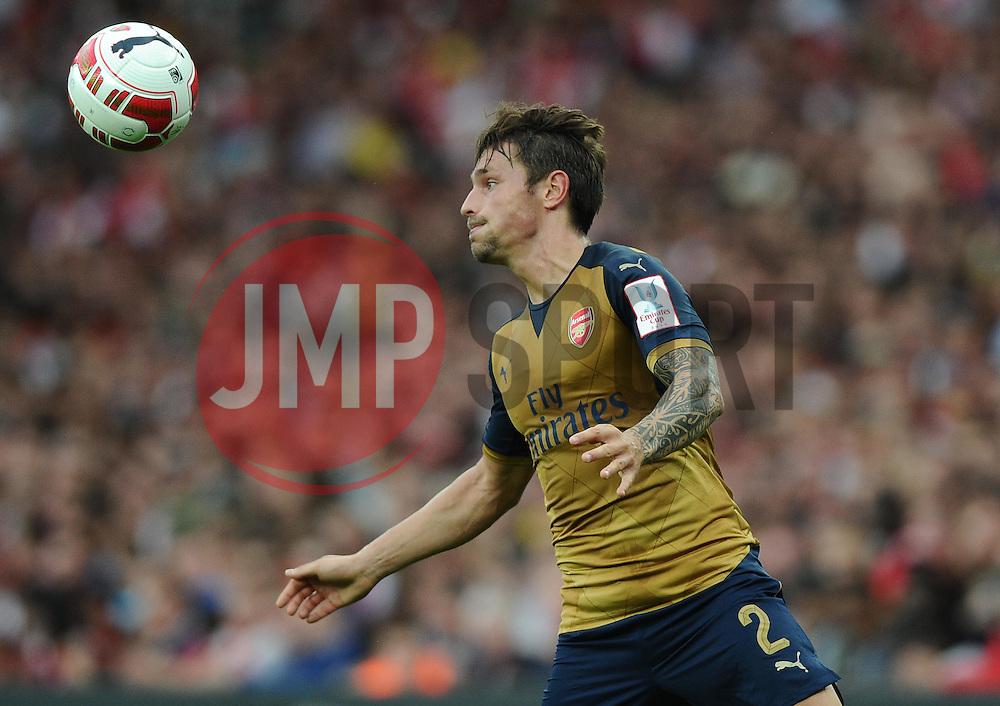 Mathieu Debuchy of Arsenal   - Mandatory by-line: Joe Meredith/JMP - 25/07/2015 - SPORT - FOOTBALL - London,England - Emirates Stadium - Arsenal v Lyon - Emirates Cup