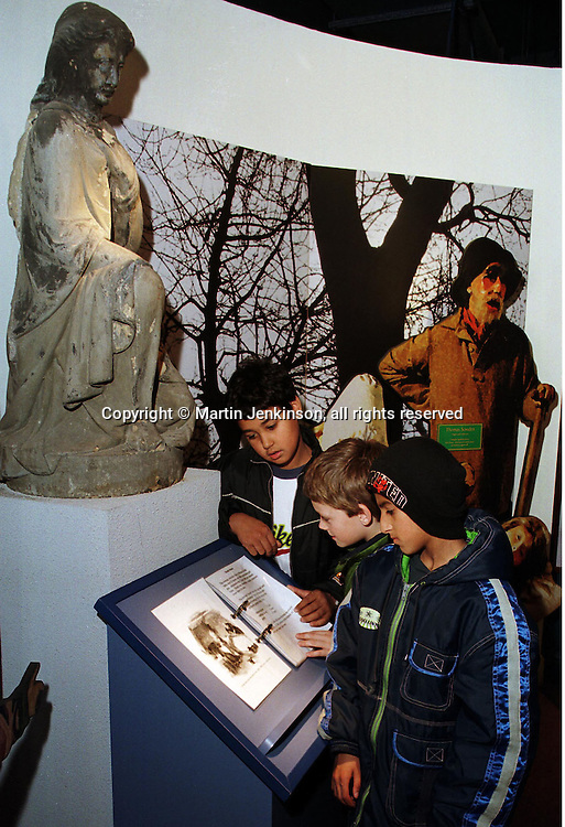 Year 6 pupils viewing an exhibitat the Thackray Medical Museum in Leeds....