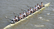 Chiswick, London, Great Britain.<br /> St Pauls School. BC.Champ eight, competing at the  2016 Schools Head of the River Race, Reverse Championship Course Mortlake to Putney. River Thames.<br /> <br /> Thursday  17/03/2016<br /> <br /> [Mandatory Credit: Peter SPURRIER;Intersport images]