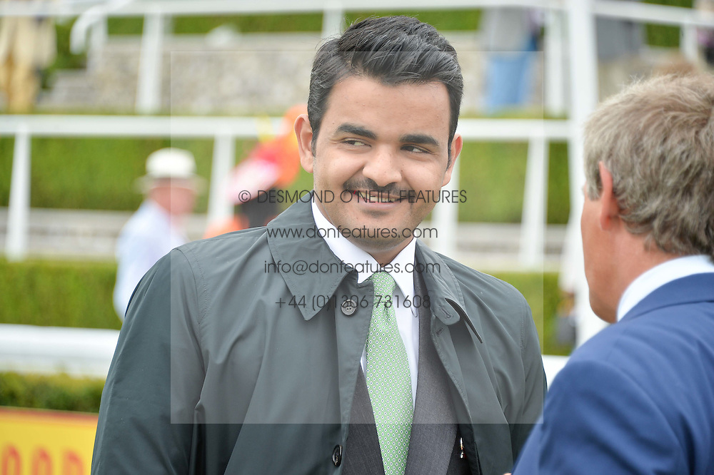 SHEIKH JOAAN BIN HAMAD BIN KHALIFA AL-THANI of Qatar at day 3 of the Qatar Glorious Goodwood Festival at Goodwood Racecourse, Chechester, West Sussex on 28th July 2016.