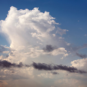 Clouds and thunderheads forming in the sky.