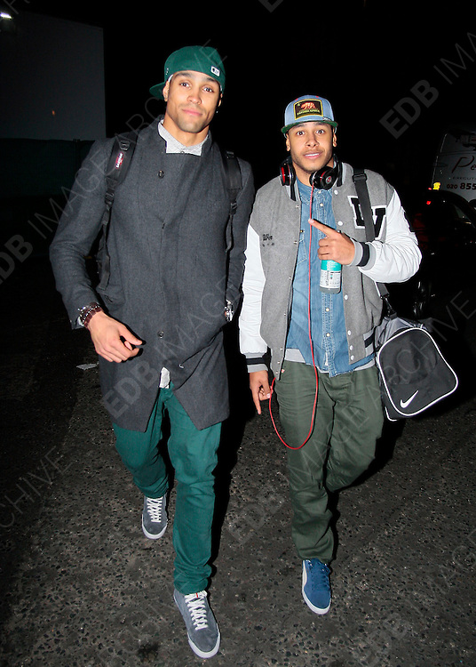 19.NOVEMBER.2012. LONDON<br /> <br /> ASHLEY BANJO LEAVING THE ROYAL ALBERT HALL AFTER PERFORMING AT THE ROYAL VARIETY.<br /> <br /> BYLINE: EDBIMAGEARCHIVE.CO.UK<br /> <br /> *THIS IMAGE IS STRICTLY FOR UK NEWSPAPERS AND MAGAZINES ONLY*<br /> *FOR WORLD WIDE SALES AND WEB USE PLEASE CONTACT EDBIMAGEARCHIVE - 0208 954 5968*