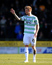 Yeovil Town's Byron Webster  - Photo mandatory by-line: Harry Trump/JMP - Mobile: 07966 386802 - 21/02/15 - SPORT - Football - Sky Bet League One - Yeovil Town v Gillingham - Huish Park, Yeovil, England.