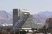 Royal Beach Hotel, Eilat, Eilat, pop. 55,000, is Israel's southernmost city in the Southern District of Israel. Adjacent to the Egyptian city of Taba and Jordanian port city of Aqaba, Eilat is located at the northern tip of the Gulf of Aqaba, which is the eastern sleeve of the Red Sea.
