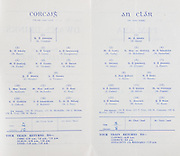 Munster Junior Hurling Finals. Cork v Clare. 31.07.1955, 07.31.1955, 31st July 1955.Cork 5-10 Claire 4-04