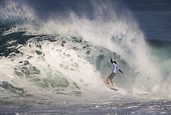 December 11, 2017 - Banzai Pipeline, HI, USA - BANZAI PIPELINE, HI - DECEMBER 11, 2017 - Josh Kerr of Australia keeps his balance in the first round of the Billabong Pipe Masters. (Credit Image: © Erich Schlegel via ZUMA Wire)