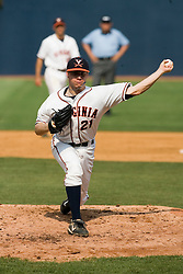 Virginia Cavaliers pitcher/firstbaseman Sean Doolittle (21) pitches against Lafayette.  The Virginia Cavaliers defeated the Lafayette Leopards 5-1 at Davenport Field in Charlottesville, VA.  The game, held on June 1, 2007 was the first of the NCAA World Series Regional.