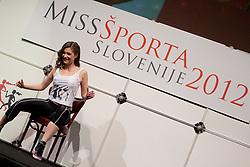 Anja Antic during event Miss Sports of Slovenia 2012, on April 21, 2012, in Festivalna dvorana, Ljubljana, Slovenia. (Photo by Urban Urbanc / Sportida.com)