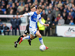 Tom Nichols of Bristol Rovers gets past Callum Styles of Bury - Mandatory by-line: Neil Brookman/JMP - 30/03/2018 - FOOTBALL - Memorial Stadium - Bristol, England - Bristol Rovers v Bury - Sky Bet League One