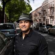 May 12, 2017 - New York, NY : Syed Ali poses for a portrait near his apartment building in Bay Ridge, Brooklyn on Friday afternoon, May 12. Syed, who is a combat veteran with the United States Army and an officer with the New York Police Department, was detained at John F. Kenney Airport earlier this year when he returned from vacation overseas after his most recent deployment -- this despite having his Military ID and US Passport.  CREDIT: Karsten Moran for The New York Times