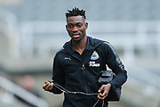 Christian Atsu (#30) of Newcastle United arrives ahead of the Premier League match between Newcastle United and Swansea City at St. James's Park, Newcastle, England on 13 January 2018. Photo by Craig Doyle.