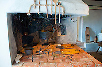 A rustic, cosy, medieval kitchen in a castle near Leipzig, Germany.