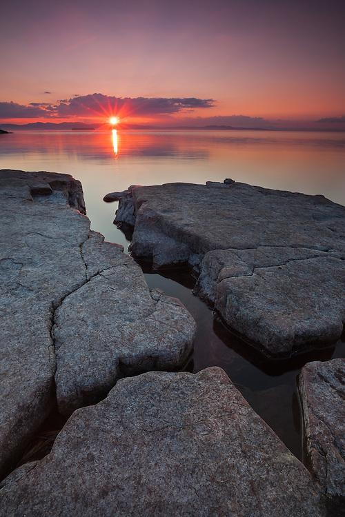 Sunset, Oak Ledge Park, Lake Champlain, Vermont