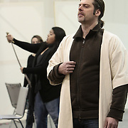Seattle Opera staging rehearsal for Attila.