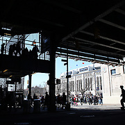 Fans make their way home after game one during the New York Yankees V Chicago Cubs, double header game one at Yankee Stadium, The Bronx, New York. 16th April 2014. Photo Tim Clayton