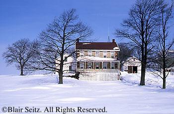 Snow-covered Farms, PA Landscapes, Lebanon Co., Pennsylvania