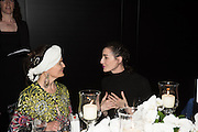 LADY FELLOWES; ERIN O'CONNOR, Luminous -Celebrating British Film and British Film Talent,  BFI gala dinner & auction. Guildhall. City of London. 6 October 2015.