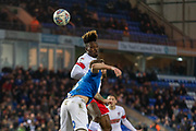 Michael Ihiekwe (20) heads towards goal during the EFL Sky Bet League 1 match between Peterborough United and Rotherham United at London Road, Peterborough, England on 25 January 2020.