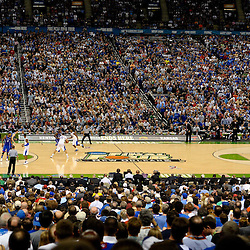 Apr 2, 2012; New Orleans, LA, USA; A general view during the second half in the finals of the 2012 NCAA men's basketball Final Four between the Kansas Jayhawks and the Kentucky Wildcats at the Mercedes-Benz Superdome. Mandatory Credit: Derick E. Hingle-US PRESSWIRE