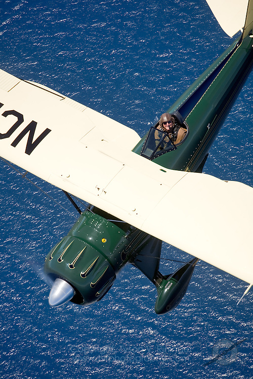Photoshoot for PilotMag Magazine of two Waco Biplanes over Santa Catalina Island.