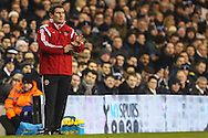 Nigel Clough, Manager of Sheffield United, during the Capital One Cup Semi-Final 1st Leg match between Tottenham Hotspur and Sheffield Utd at White Hart Lane, London, England on 21 January 2015. Photo by David Horn.