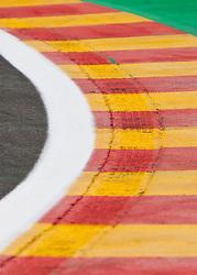 25.08.2011, Circuit de Spa, Francorchamps, BEL, F1, Grosser Preis von Belgien, Streckenbesichtigung der Fahrer, im Bild Feature von den Curbs  // during circuit inspection at Formula One Championships 2011 Belgian Grand Prix held at the Circuit de Spa, Francorchamps, Belgium, 25/8/2011, EXPA Pictures © 2011, PhotoCredit: EXPA/ J. Groder