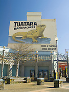 View of the Tuatara Backpacker's Hotel from Wachner Place, Invercargill, New Zealand