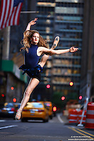 Dance As Art New York City Photography Project Midtown Manhattan with ballerina Rochelle Rankin.