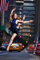 Dance As Art New York City Photography Project Midtown Manhattan with ballerina Rochelle Rankin.