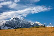Red Eagle Mountain after autumn snowstorm, Glacier National Park Montana USA