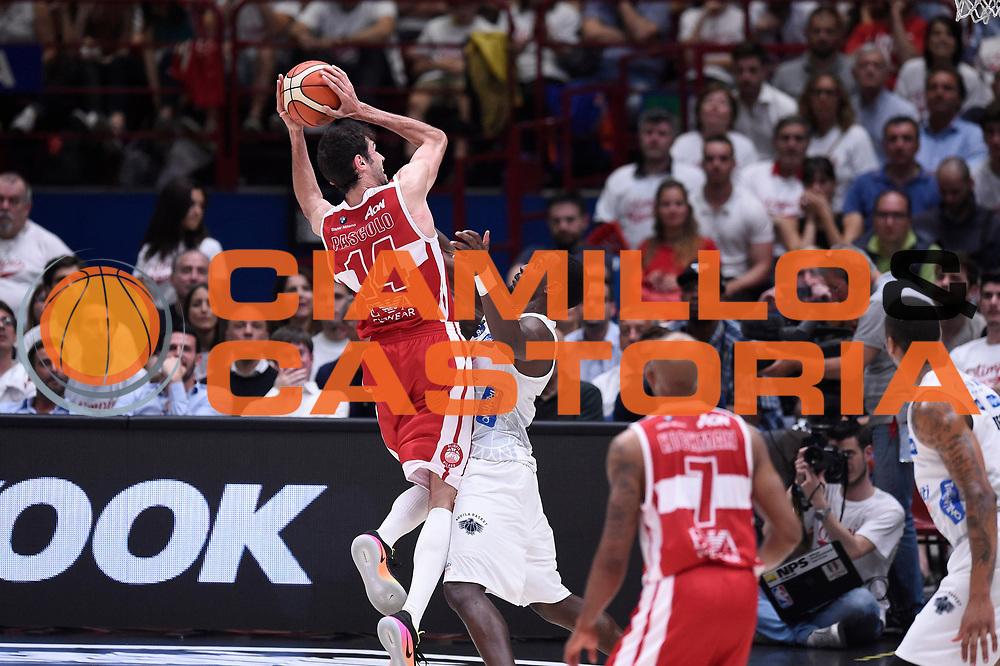 Davide Pascolo<br /> EA7 Emporio Armani Olimpia Milano - Dolomiti Energia Aquila Basket Trento<br /> Lega Basket Serie A, Semifinali Playoff 2016/2017<br /> Milano, 25/05/2017<br /> Foto Ciamillo-Castoria