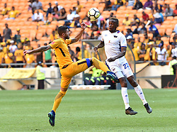 Chippa United FC player Linda Mntambo battle for the ball with Kaizer Chiefs player Daniel Cardoso during the ABSA premiership at FNB stadium <br />