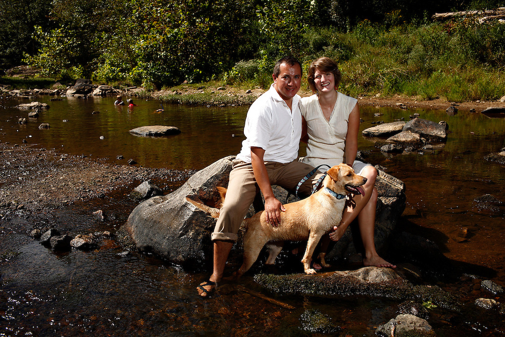 Meghan Mellow and Jim Melo at the Eno River, Durham, NC, Sunday, Sept. 5, 2010. ..Photo by D.L. Anderson...