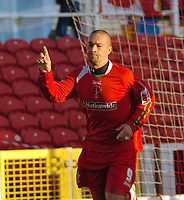 Photo: Kevin Poolman.<br />Swindon Town v Hereford United. Coca Cola League 2. 04/11/2006. Christian Roberts of Swindon celebrates his goal and Swindon's first.