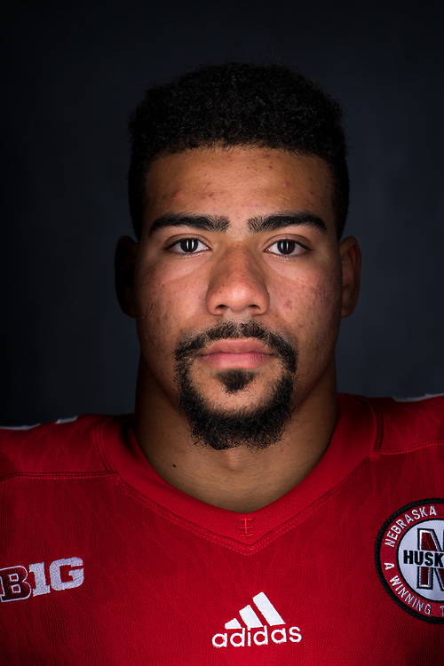 DEDRICK YOUNG #5 during a portrait session at Memorial Stadium in Lincoln, Neb. on June 7, 2017. Photo by Paul Bellinger, Hail Varsity