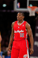 25 February 2011: Guard Eric Bledsoe of the Los Angeles Clippers against the Los Angeles Lakers during the first half of the Lakers 108-95 victory over the Clippers at the STAPLES Center in Los Angeles, CA.