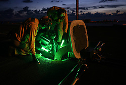 ATLANTIC OCEAN (Aug. 20, 2018) Sailors prepare to launch aircraft on the flight deck of the Nimitz-class aircraft carrier USS Abraham Lincoln (CVN 72). (U.S. Navy photo by Mass Communication Specialist 1st Class Josue L. Escobosa/Released) 180820-N-CT127-1168