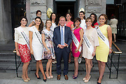 31/07/2014 There was an excellent turnout of fashionable ladies at Hotel Meyrick for their Most Stylish Lady Competition, judged by two of Ireland's leading fashion commentators Sonya Lennon  and Brendan Courtney .  At the event wasCian O'Brion with the rose of Tralee Conttestants. ,Picture:Andrew Downes