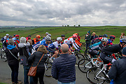 The peloton the summit of Cote de Goose Eye during stage four of the Tour de Yorkshire from Halifax to Leeds, , United Kingdom on 4 May 2019.