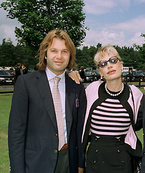 PRINCE OLEG MISSIKOFF and his sister MRS DONATELLA FLICK at a luncheon in Berkshire on 22nd June 1997.LZN 60 2OLO