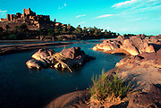 MOROCCO, SAHARA DESERT the Kasbah of Tiffoultoute (fortified citadel) near Ouarzazate south of Marrakech