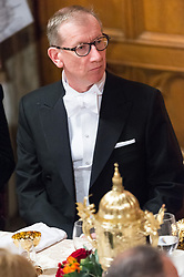 © Licensed to London News Pictures. 13/11/2017. London, UK. PHILIP MAY attends the annual Lord Mayor's Banquet at Guildhall. Photo credit: Ray Tang/LNP