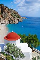 Grece, Dodecanese, Karpathos, plage de Kira Panagia // Greece, Dodecanese, Karpathos island, Kira Panagia beach