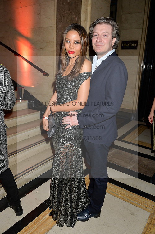 VISCOUNT & VISCOUNTESS WEYMOUTH at the Warner Music Group & Ciroc Vodka Brit Awards After Party held at The Freemason's Hall, 60 Great Queen St, London on 24th February 2016.