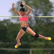 SUHR - 13USA, Des Moines, Ia. - Jenny Suhr cleared 15-5 to win the pole vault.   Photo by David Peterson