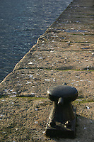 Mooring post at edge of Quay, Dublin, Ireland