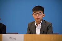 DEU, Deutschland, Germany, Berlin, 11.09.2019: Joshua Wong, Generalsekretär von Demosisto, in der Bundespressekonferenz zur Lage in Hongkong.